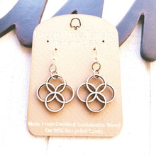 Load image into Gallery viewer, Integrated Circle Earrings - Natural Wood