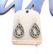 Load image into Gallery viewer, Teardrop Earrings - Natural Wood