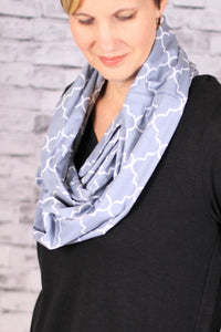 Gray Infinity Travel Pocket Scarf