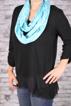 Load image into Gallery viewer, Teal Infinity Travel Pocket Scarf