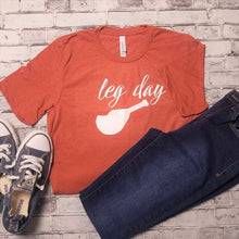 Load image into Gallery viewer, Fun Thanksgiving Tee - Leg Day