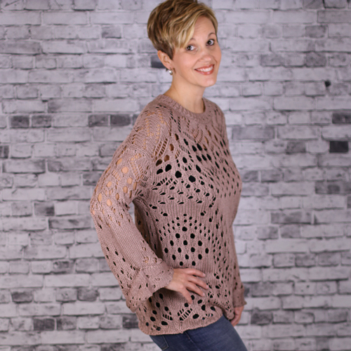 Latte Crochet Sweater