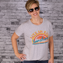"Load image into Gallery viewer, ""Live In The Sunshine"" Graphic Tee"