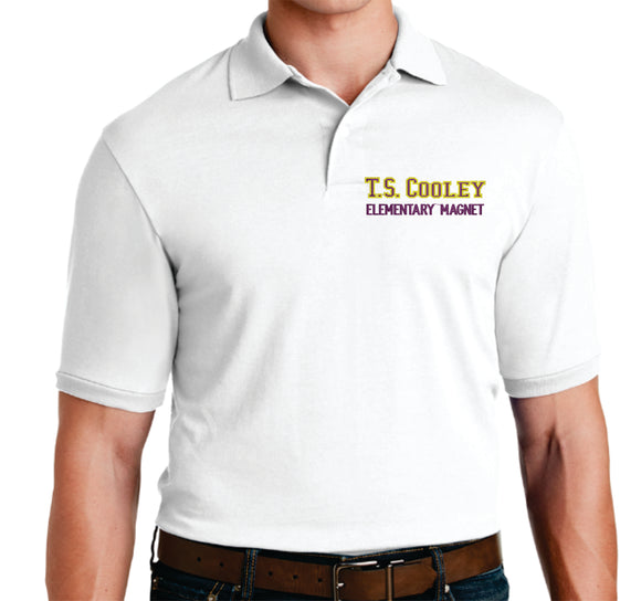 TS Cooley White polo