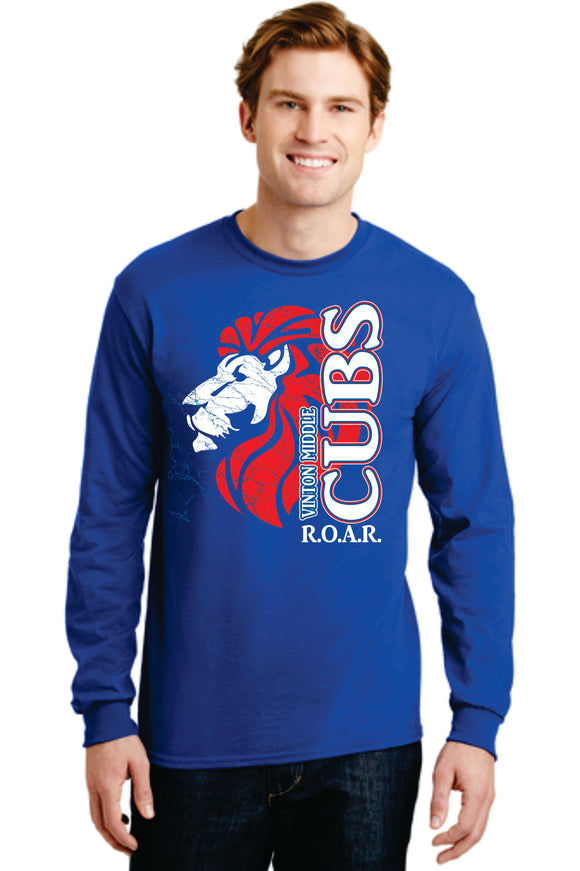 VMS Royal Blue long sleeve Spirit Shirt
