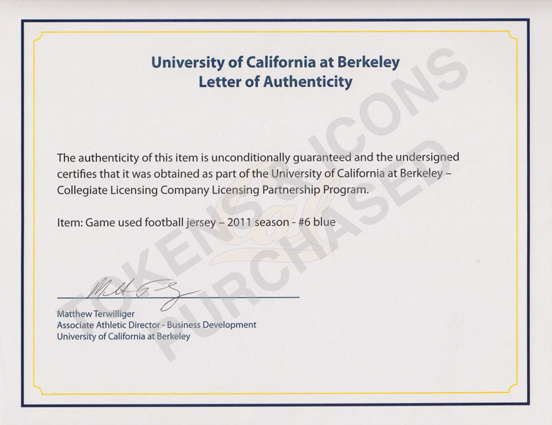 Uc Berkeley Letters Of Authenticity Tokens Icons
