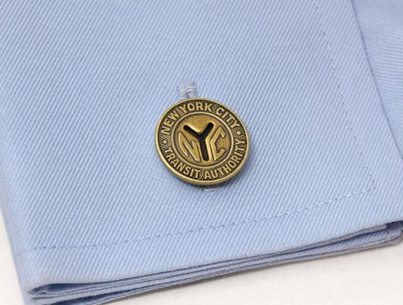 New York Transit Token Cuff Links - Antique