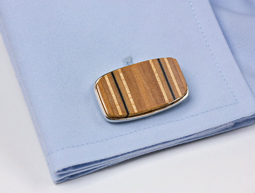 Tennis Racquet Handle Cross Section Cuff Links