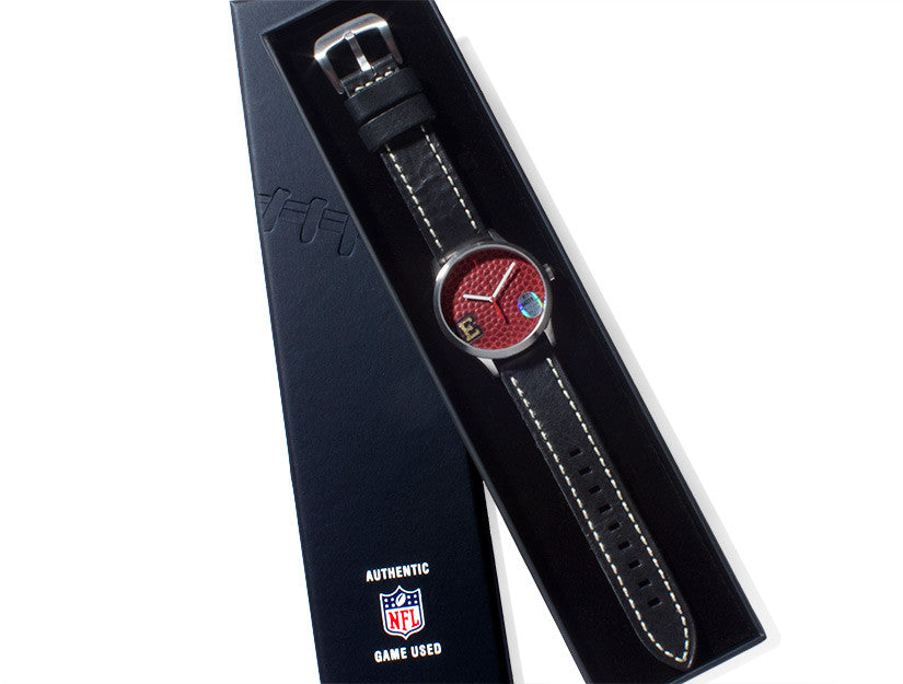 New England Patriots 2015 Limited Edition Super Bowl XLIX Game Used Football Watch