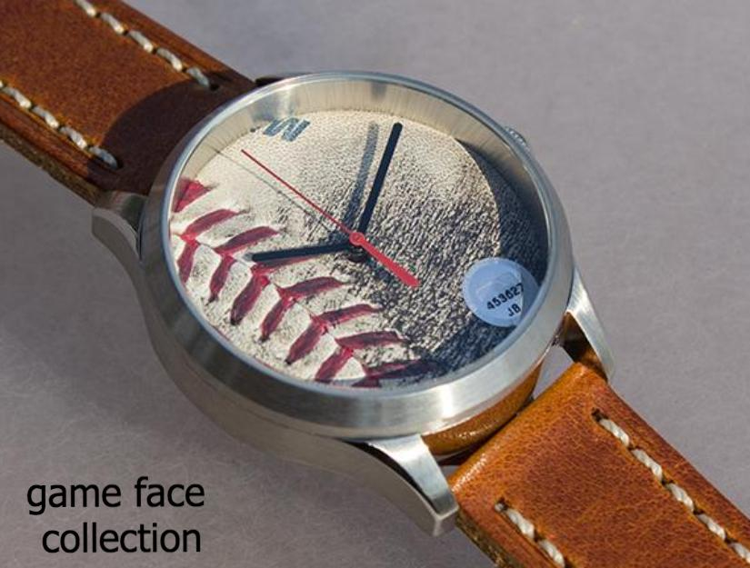 Game Face Collection - Game Used Baseball Watches