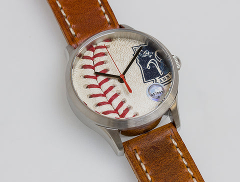 Colorado Rockies Game Used Baseball Watch - 20 Year Commemorative