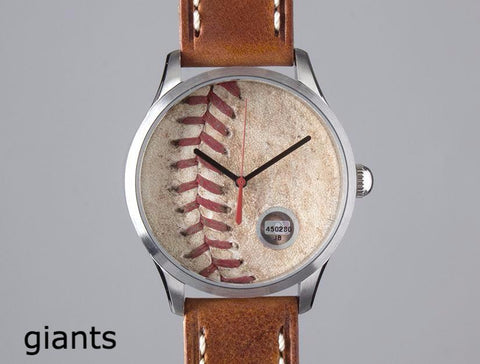San Francisco Giants Game Used Baseball Watch - Game Face Collection