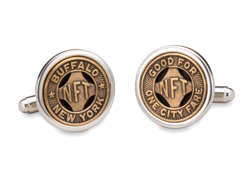 Buffalo, New York Transit Token Cuff Links