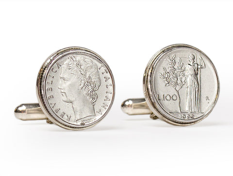 Italian Lire Cuff Links