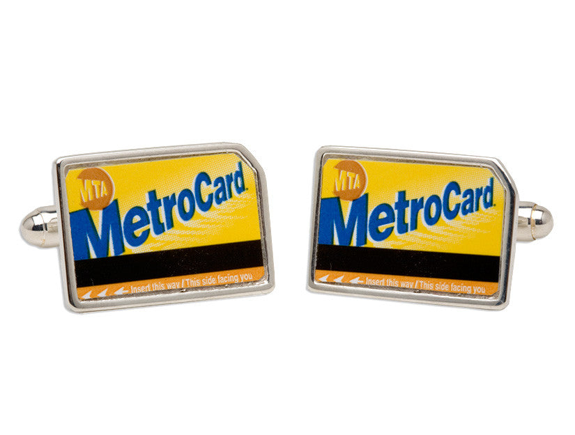 MetroCard Cuff Links by Tokens & Icons