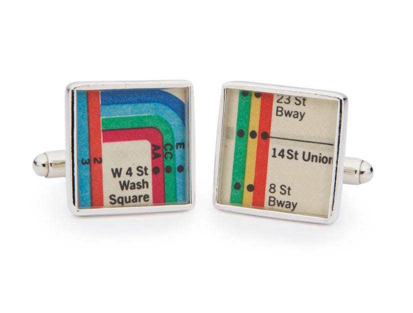 New York Subway Vignelli Diagram Cuff Links by Tokens & Icons