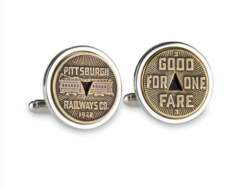 Pittsburgh Transit Token Cuff Links
