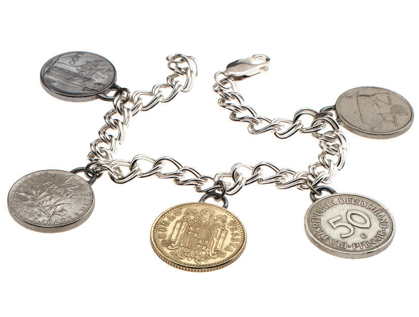 European Coin Bracelet by Tokens & Icons