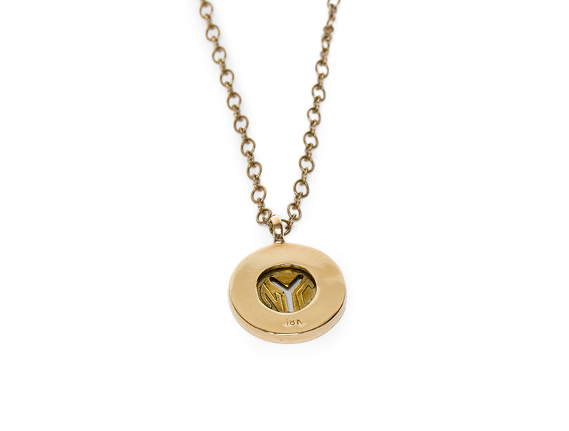Limited Edition - New York Transit Token Pendant with Gold Bezel