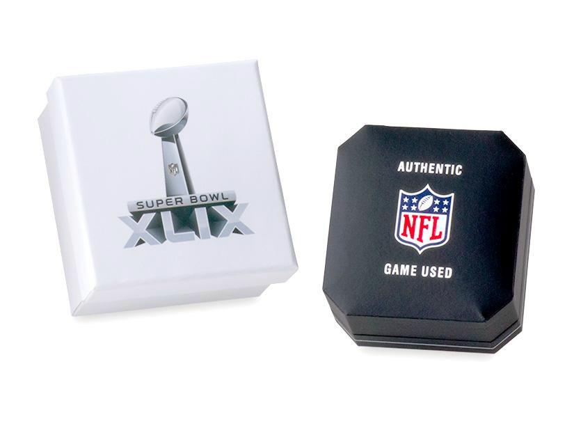 New England Patriots '04/'05/'15/'17 Super Bowl Game Used Football Cuff Links