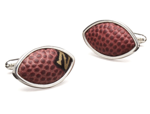 New Orleans Saints Game Used Football Cuff Links