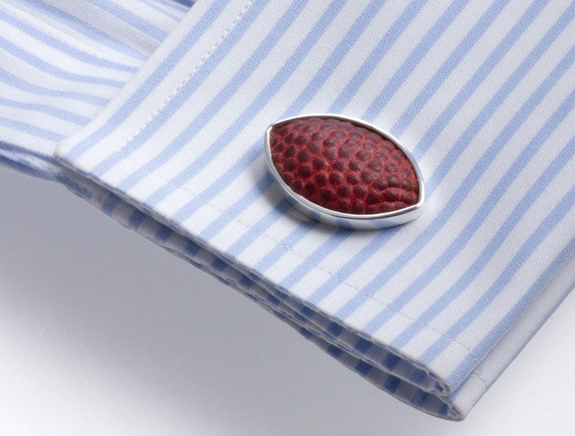 New England Patriots Game Used Football Cuff Links