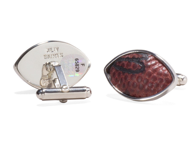 New Orleans Saints 2010 Super Bowl XLIV Game Used Football Cuff Links
