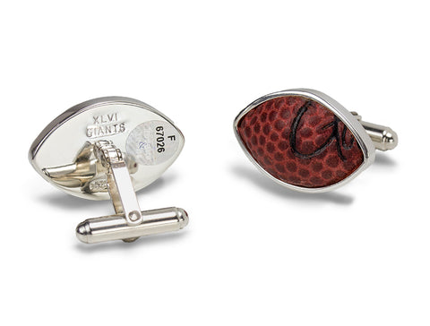 New York Giants 2012 Super Bowl XLVI Game Used Football Cuff Links