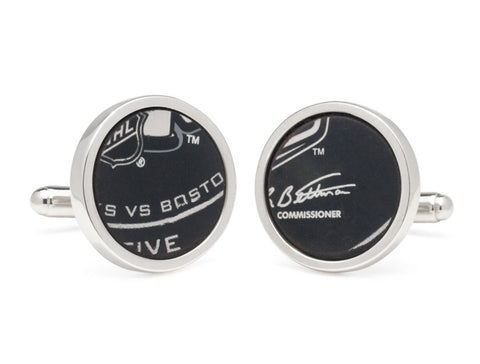 Stanley Cup Final Puck Round Cuff Links