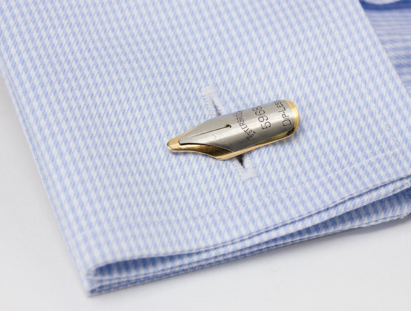 Fountain Pen Nib Cuff Links