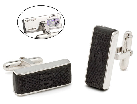 Stanley Cup Final Puck Edge Cuff Links