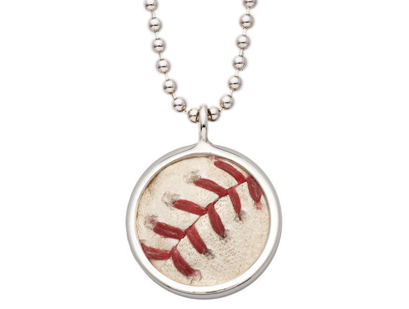 MLB Authenticated Game Used Baseball Pendant Back by Tokens & Icons