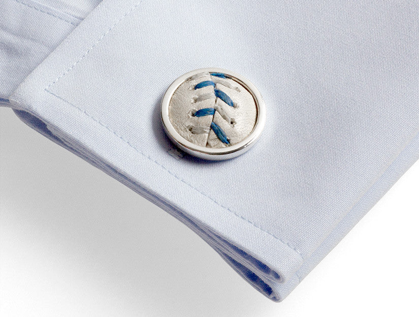 All-Star 2012 Game Used Baseball Cuff Links - KC Royals