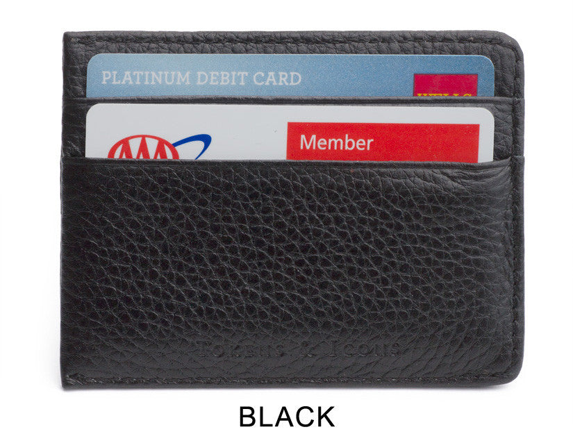 Back of Black Money Clip Wallet by Tokens & Icons