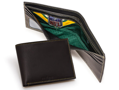 Green Bay Packers Game Used Uniform Billfold Wallet with Emblem