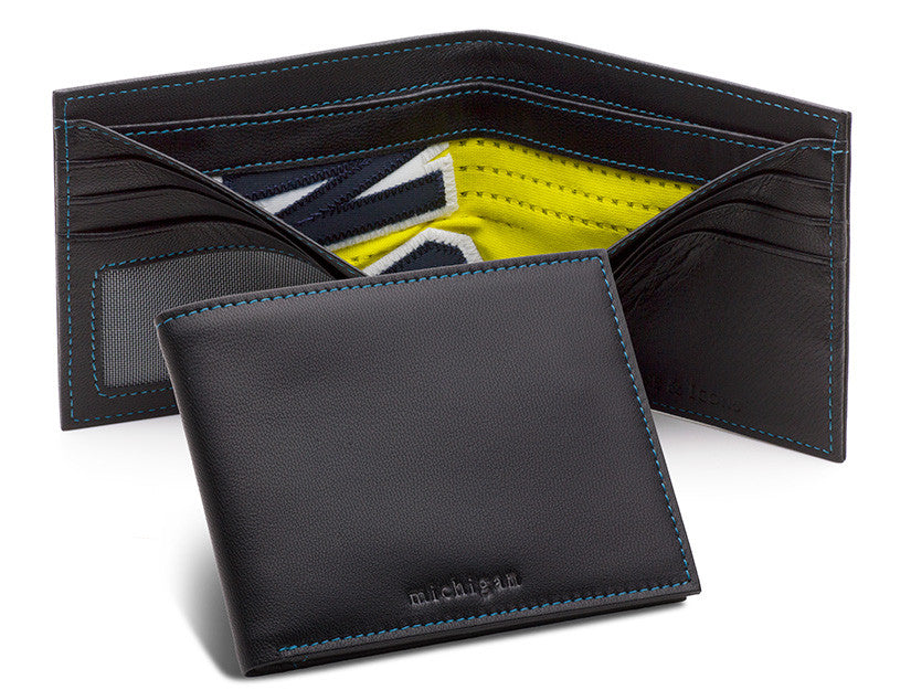 University of Michigan Game Used Basketball Uniform Wallet by Tokens & Icons
