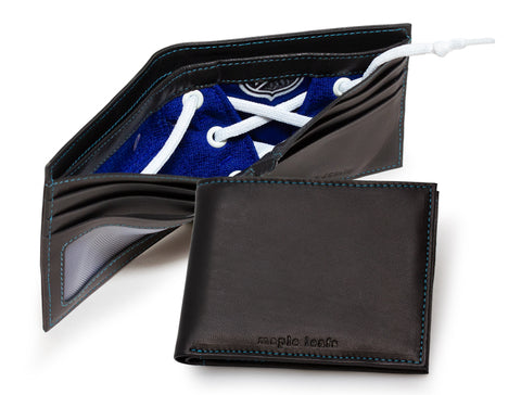 Toronto Maple Leafs Game Used Uniform Billfold Wallet with Lace Up