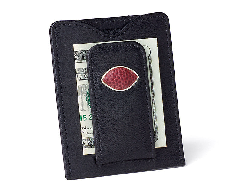 Washington Redskins Game Used Football Money Clip Wallet