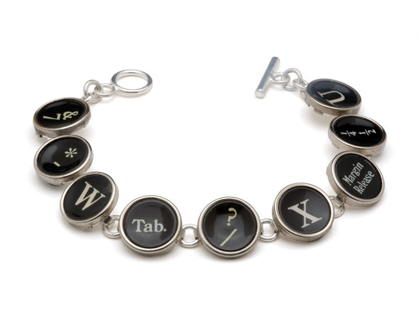 Vintage Typewriter Keys Bracelet by Tokens & Icons