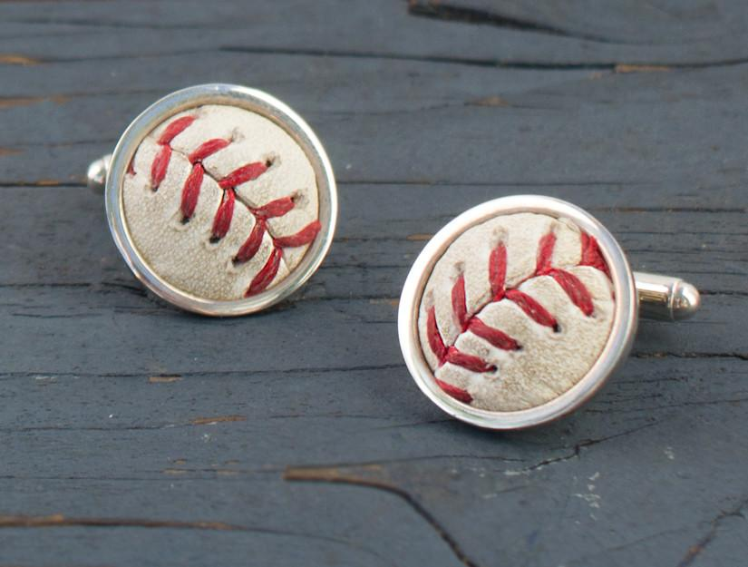 San Francisco Giants '10, '12 & '14 World Series Game Used Baseball Cuff Links