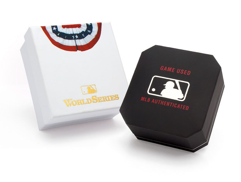 Chicago Cubs 2016 World Series Game Used Baseball Cuff Links