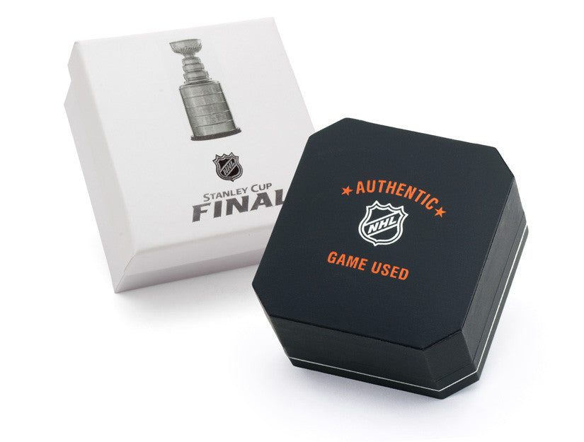 Chicago Blackhawks Game Used Puck Round Cuff Links  - 2013 Stanley Cup Final