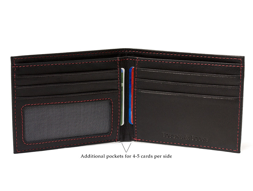 New York Rangers Game Used Uniform Billfold Wallet with Lace Up