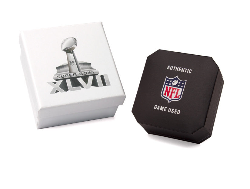 Baltimore Ravens 2013 Super Bowl XLVII Game Used Football Cuff Links