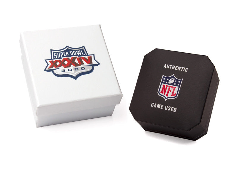 St. Louis Rams 2000 Super Bowl XXXIV Game Used Football Cuff Links