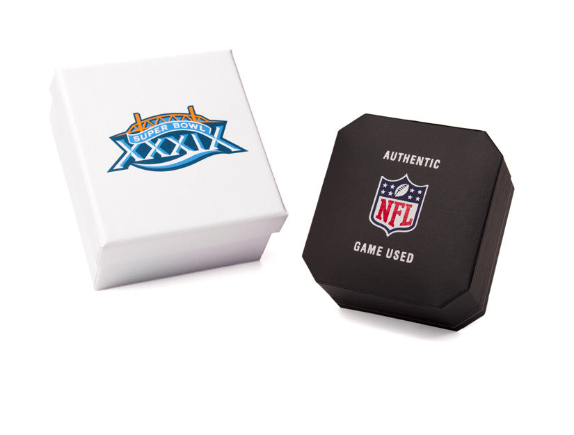 New England Patriots '04/'05 Super Bowl Game Used Football Cuff Links