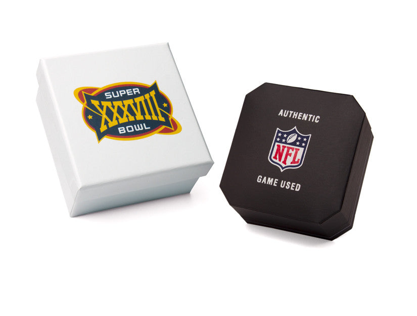 New England Patriots '04/'05/'15 Super Bowl Game Used Football Cuff Links