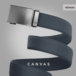 belt with canvas material - click to see the canvas Mission Belt 40mm collection