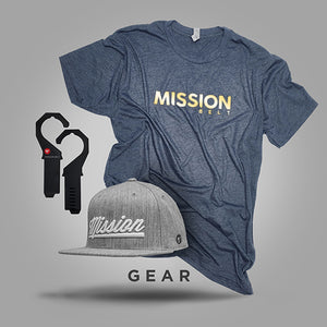 Mission Belt t-shirt, hat, and hangers - click to view Mission Belt gear