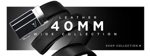 Black belt with black buckle - click to shop wide leather collection